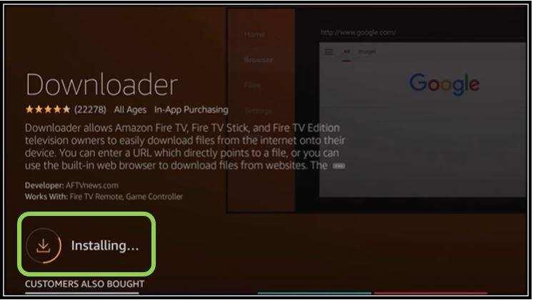 Installing Downloader App