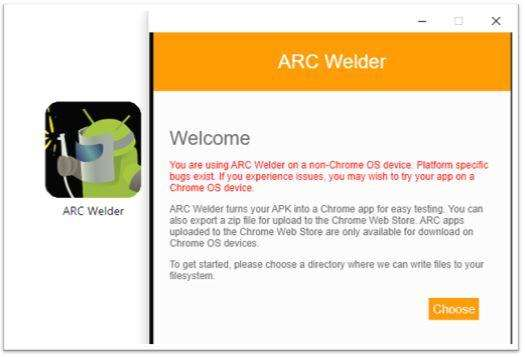Launch ARC Welder