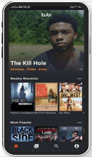 Tubi TV on iOS