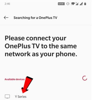 Select TV image